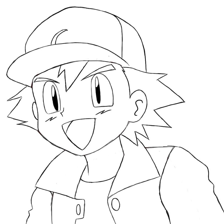 ash ketchum coloring pages - photo#1