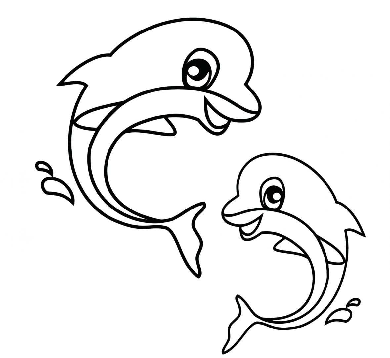 Delfines para colorear :: Imágenes y fotos