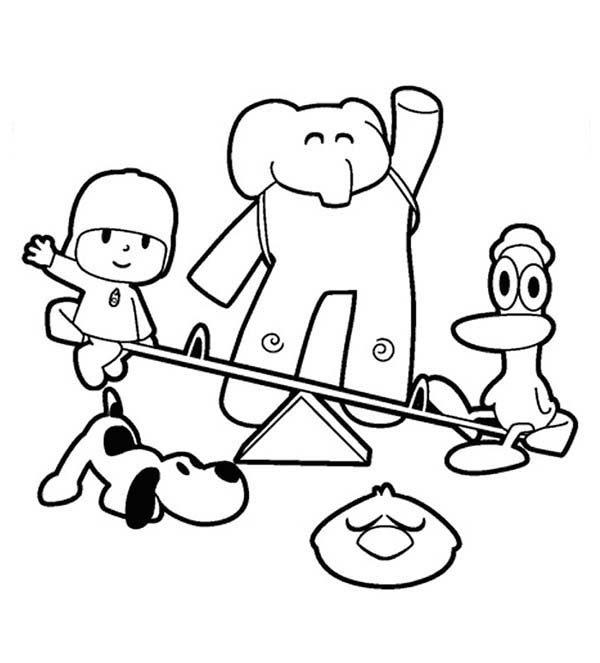 Imagenes Dibujos De Pocoyo Y Sus Amigos Para Colorear Jpg on Imagenes Peces Colorear