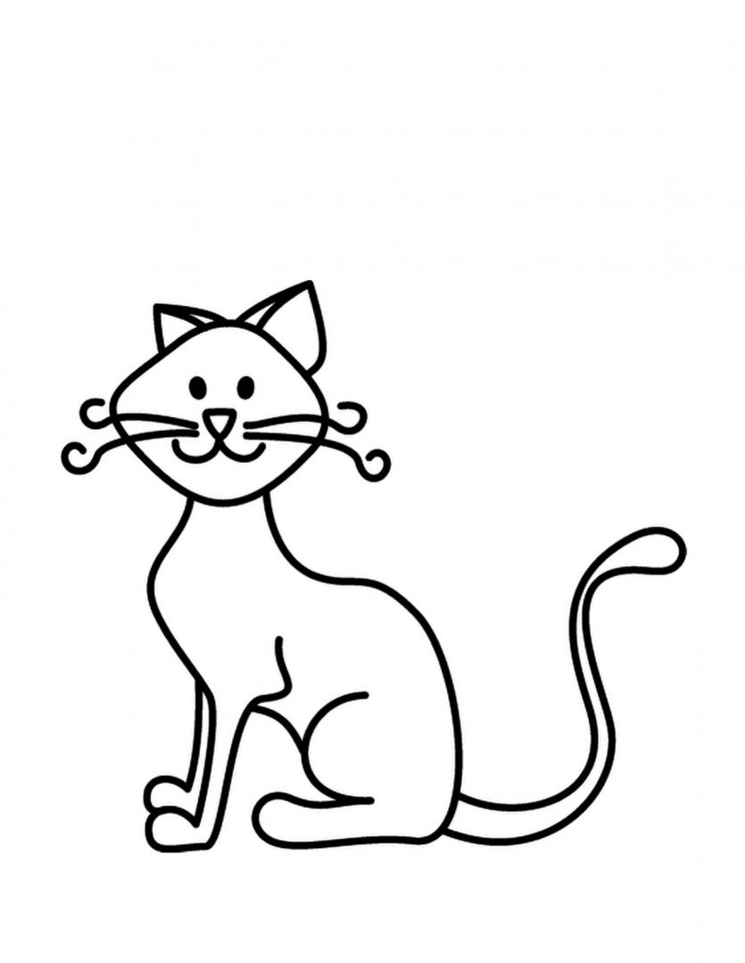 Excelente Hoja Para Colorear Gatito Colección de Imágenes - Dibujos ...