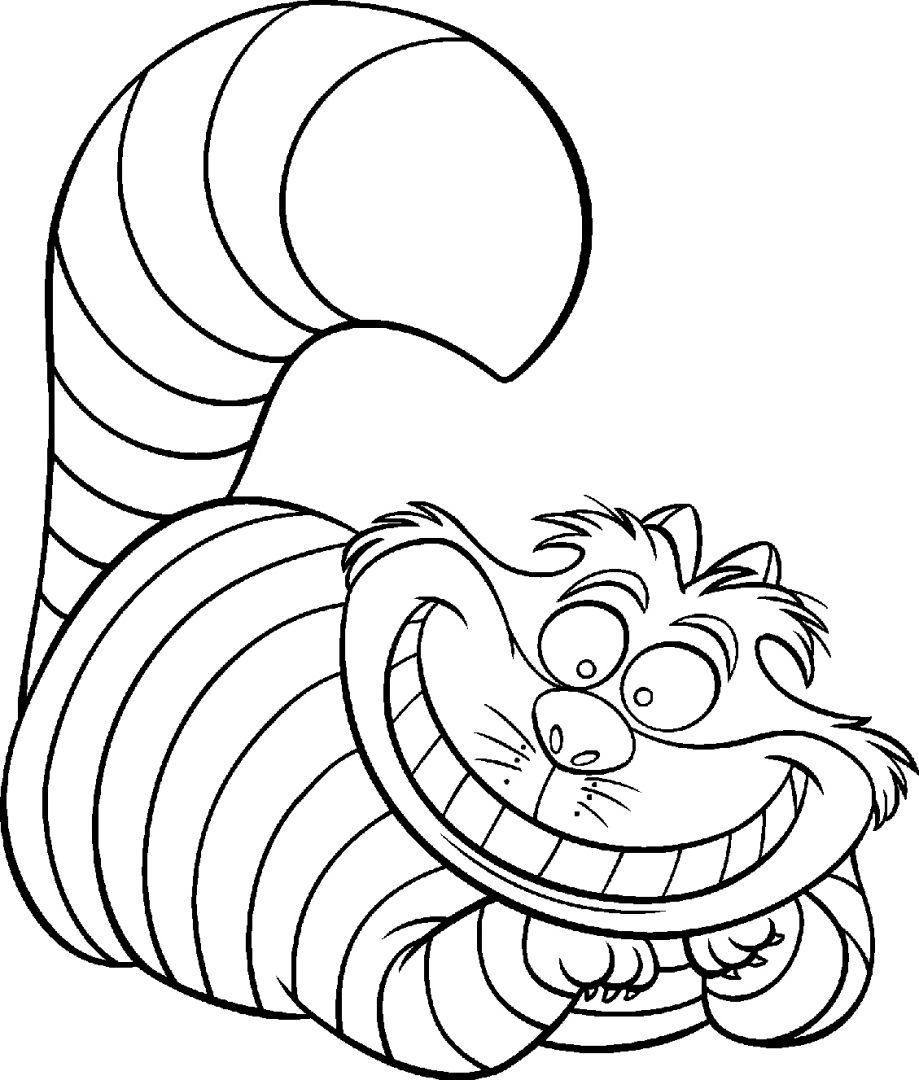 Único Gato En El Pez Sombrero Para Colorear Elaboración - Dibujos ...