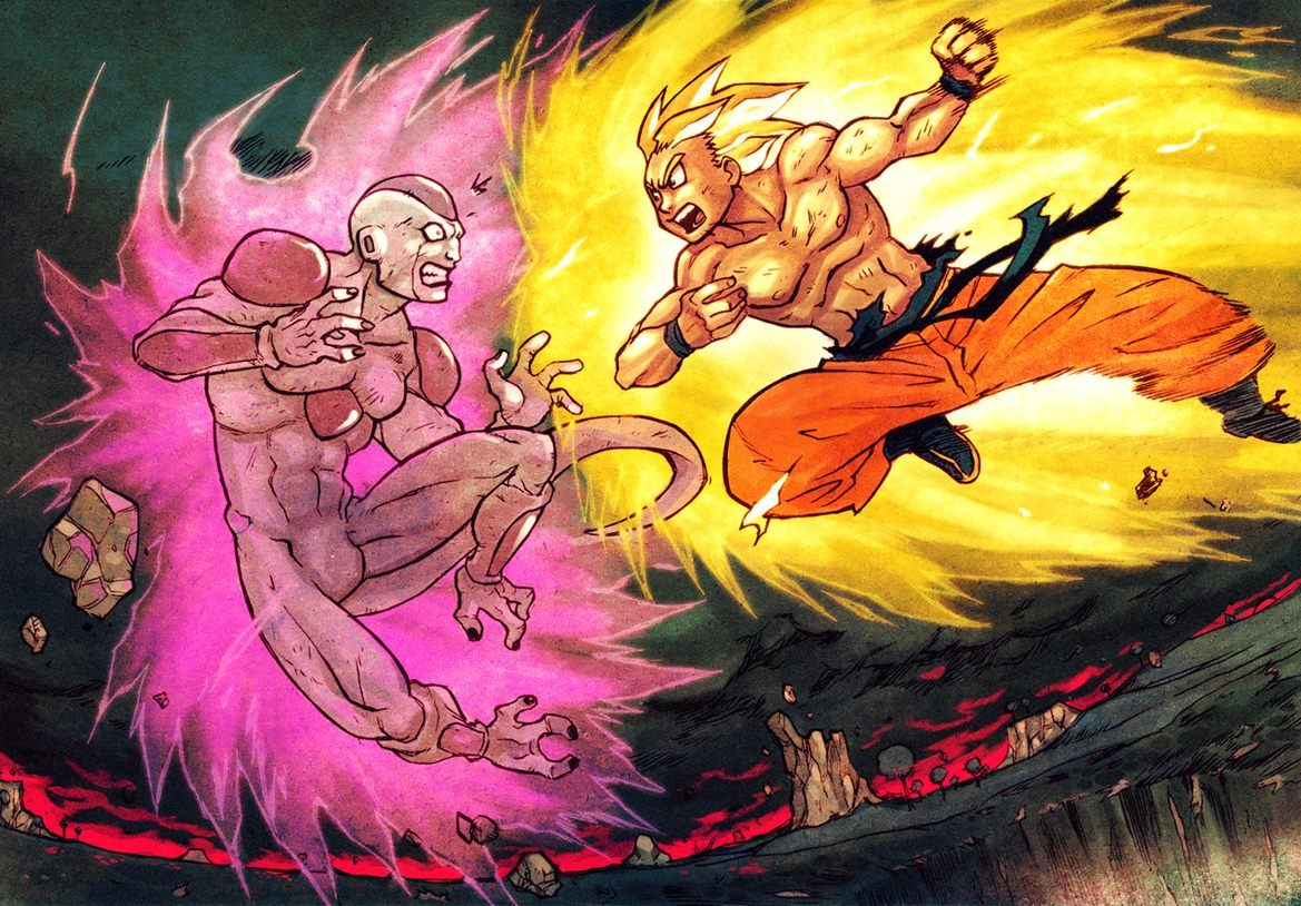 Goku Y Freezer Im 225 Genes Y Fotos