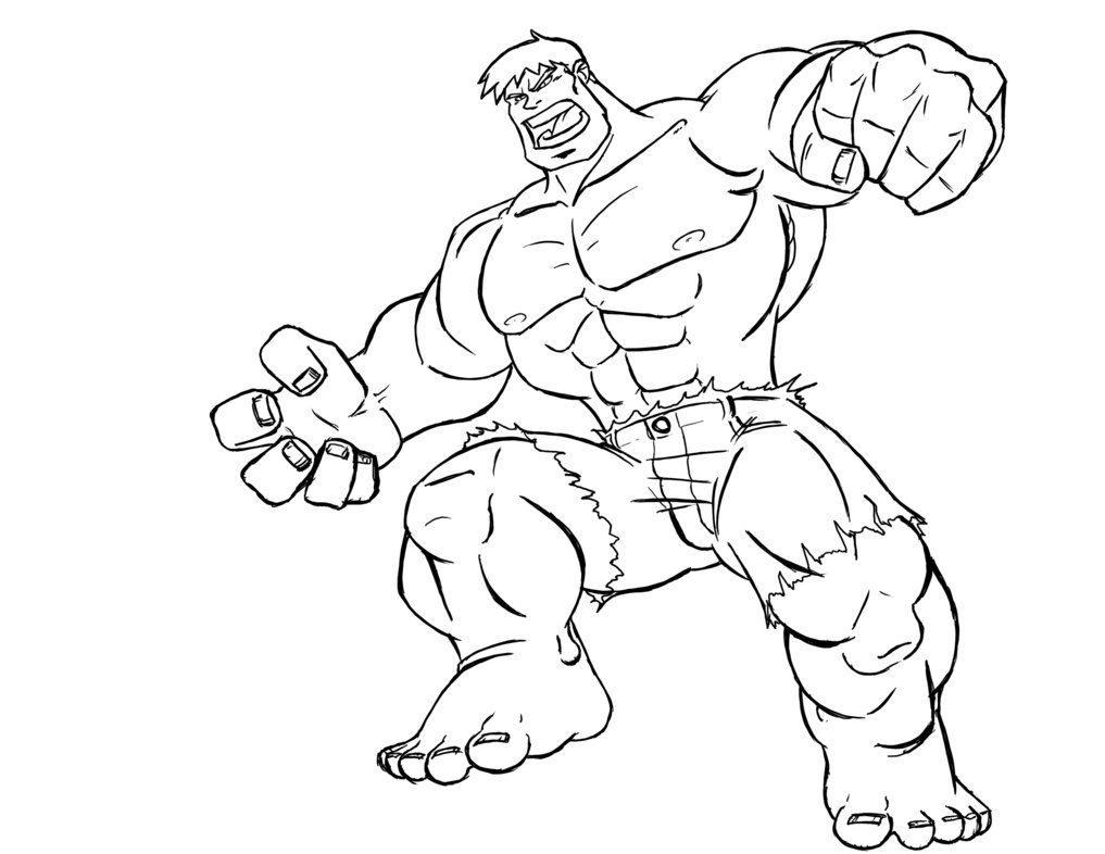 Hulk para colorear - Imagui