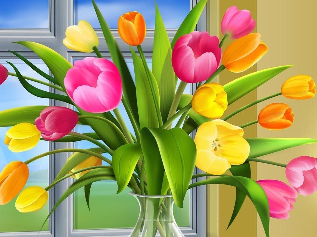 Jarrón con flores :: Imágenes y fotos