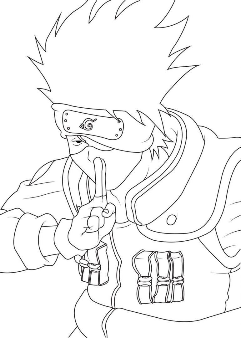 Hermosa Naruto Para Colorear Kakashi Adorno - Dibujos Para Colorear ...