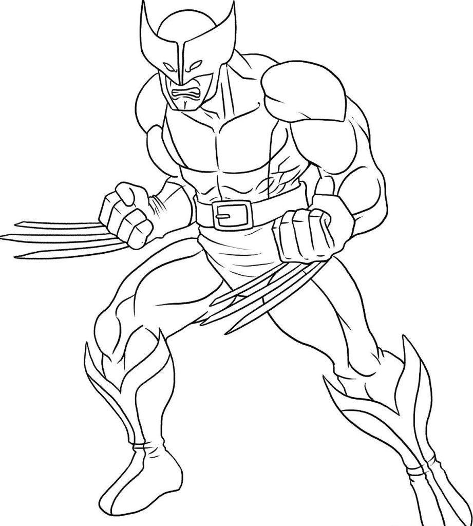 Galer a de im genes dibujos de superh roes para colorear - Wolverine dessin ...