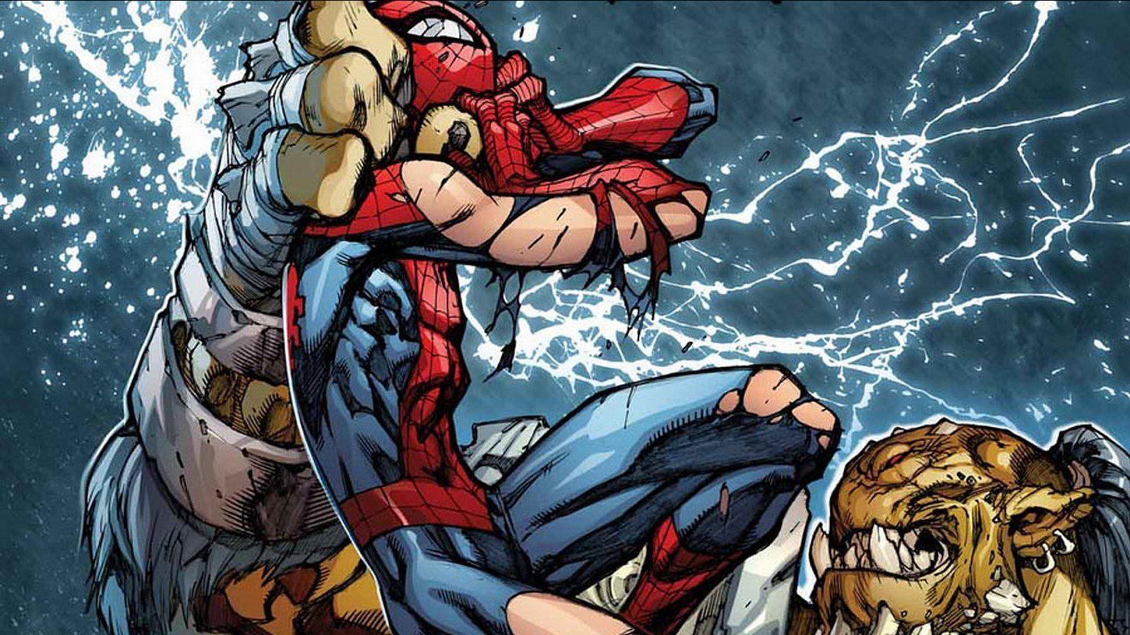 Lucha De Spiderman Im 225 Genes Y Fotos