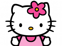 Hello Kitty con flor en la cabeza
