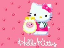 Hello Kitty de color rosa