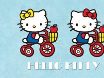 Hello Kitty en triciclo