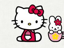 Hello Kitty y un conejito