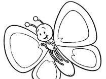 Mariposa Infantil Para Colorear Imágenes Y Fotos